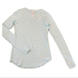 Ivivva | Light Blue Pima Cotton Long Sleeve Top